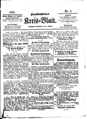 Frankensteiner Kreisblatt on Jan 14, 1893