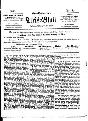 Frankensteiner Kreisblatt vom 18.01.1893