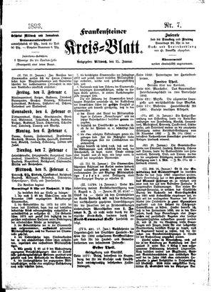 Frankensteiner Kreisblatt vom 25.01.1893