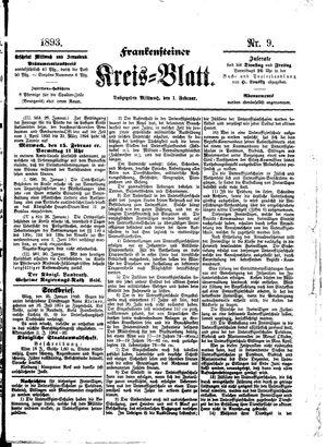Frankensteiner Kreisblatt on Feb 1, 1893