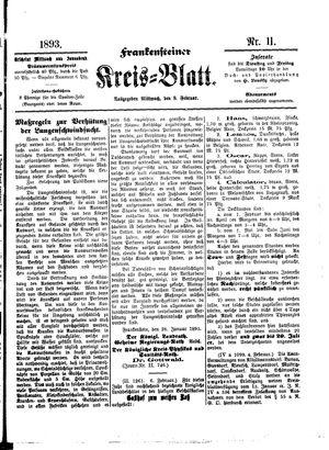 Frankensteiner Kreisblatt vom 08.02.1893