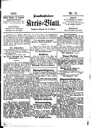 Frankensteiner Kreisblatt vom 15.02.1893