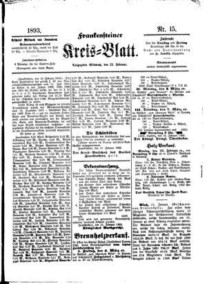 Frankensteiner Kreisblatt vom 22.02.1893