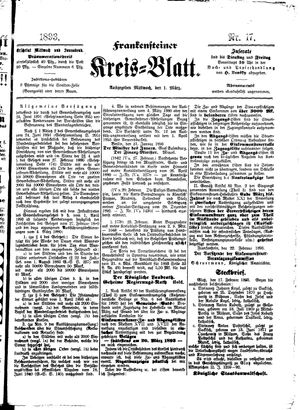 Frankensteiner Kreisblatt vom 01.03.1893