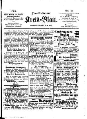 Frankensteiner Kreisblatt vom 04.03.1893