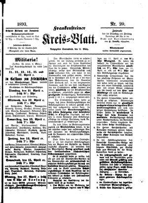 Frankensteiner Kreisblatt vom 11.03.1893