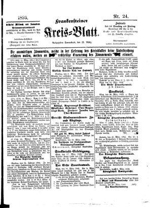 Frankensteiner Kreisblatt vom 25.03.1893