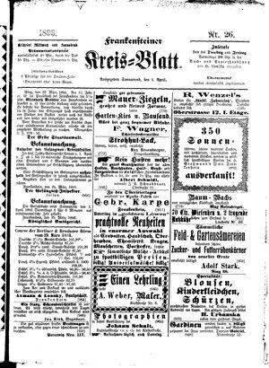 Frankensteiner Kreisblatt vom 01.04.1893