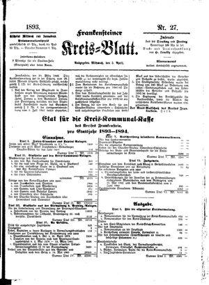 Frankensteiner Kreisblatt vom 05.04.1893