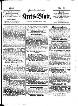 Frankensteiner Kreisblatt vom 15.04.1893