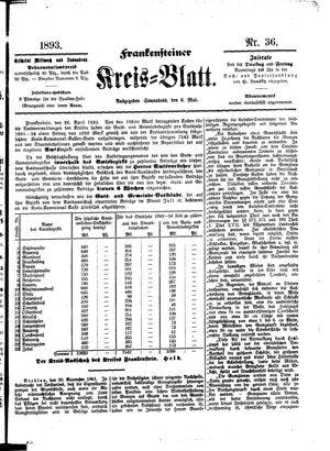 Frankensteiner Kreisblatt vom 06.05.1893