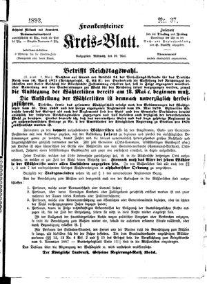 Frankensteiner Kreisblatt vom 10.05.1893