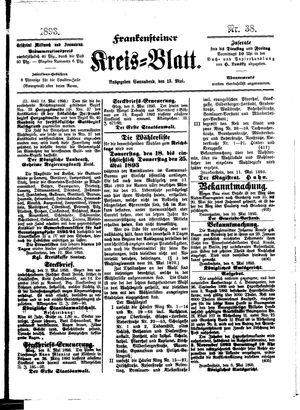 Frankensteiner Kreisblatt on May 13, 1893