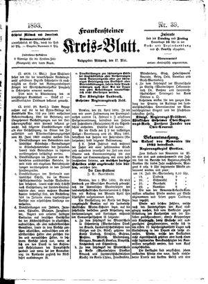 Frankensteiner Kreisblatt vom 17.05.1893