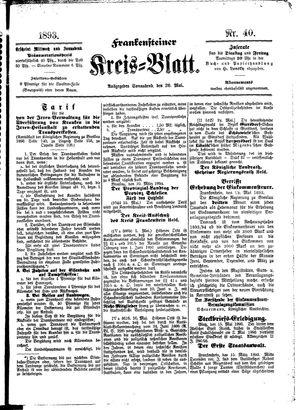 Frankensteiner Kreisblatt vom 20.05.1893