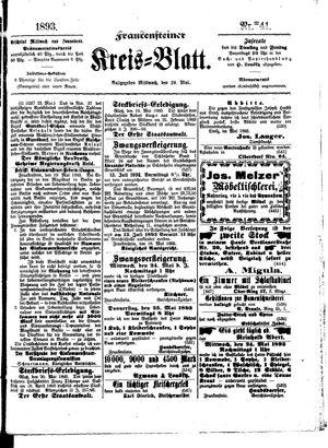 Frankensteiner Kreisblatt vom 24.05.1893