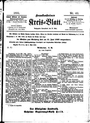 Frankensteiner Kreisblatt vom 27.05.1893