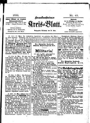 Frankensteiner Kreisblatt vom 31.05.1893