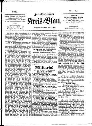 Frankensteiner Kreisblatt vom 07.06.1893