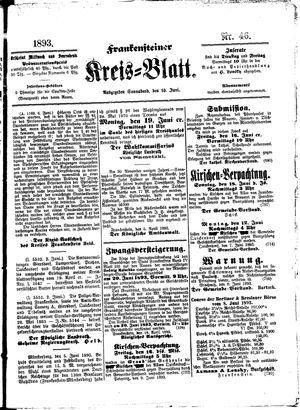 Frankensteiner Kreisblatt vom 10.06.1893