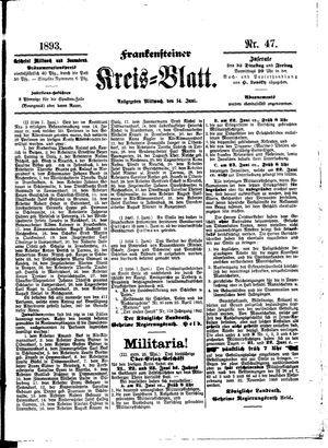 Frankensteiner Kreisblatt vom 14.06.1893