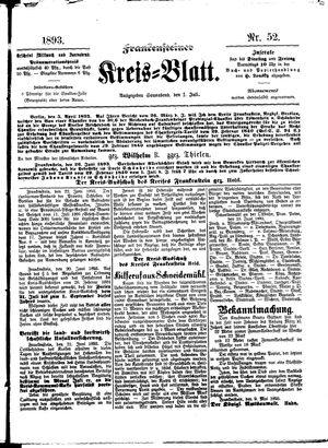 Frankensteiner Kreisblatt vom 01.07.1893