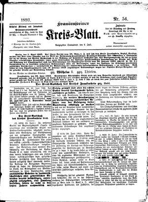 Frankensteiner Kreisblatt on Jul 8, 1893