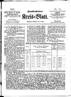 Frankensteiner Kreisblatt vom 12.07.1893