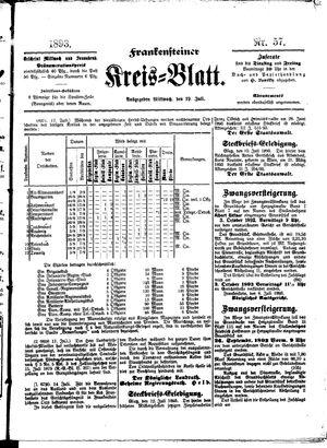 Frankensteiner Kreisblatt vom 19.07.1893