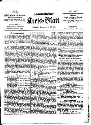 Frankensteiner Kreisblatt vom 22.07.1893