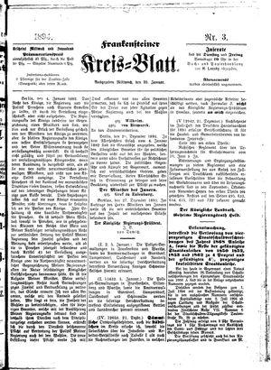 Frankensteiner Kreisblatt vom 10.01.1894
