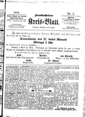 Frankensteiner Kreisblatt vom 17.01.1894