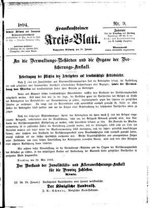 Frankensteiner Kreisblatt vom 31.01.1894