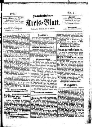 Frankensteiner Kreisblatt vom 07.02.1894