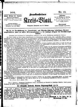 Frankensteiner Kreisblatt vom 10.02.1894