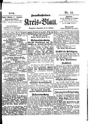 Frankensteiner Kreisblatt vom 17.02.1894