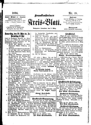 Frankensteiner Kreisblatt vom 03.03.1894
