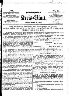 Frankensteiner Kreisblatt vom 07.03.1894