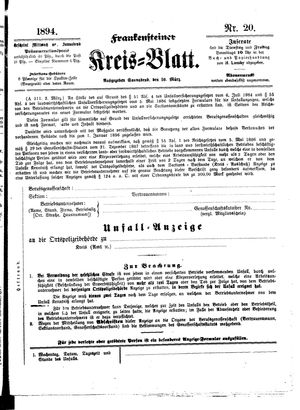Frankensteiner Kreisblatt vom 10.03.1894