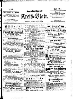 Frankensteiner Kreisblatt vom 14.03.1894