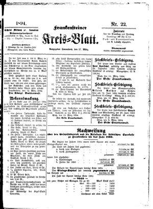 Frankensteiner Kreisblatt vom 17.03.1894