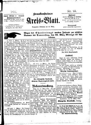 Frankensteiner Kreisblatt vom 21.03.1894
