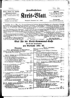 Frankensteiner Kreisblatt vom 07.04.1894
