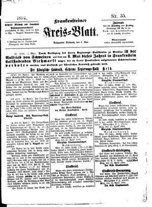 Frankensteiner Kreisblatt vom 02.05.1894