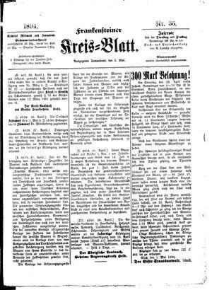 Frankensteiner Kreisblatt vom 05.05.1894