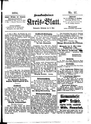 Frankensteiner Kreisblatt on May 9, 1894