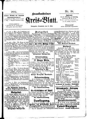 Frankensteiner Kreisblatt on May 12, 1894