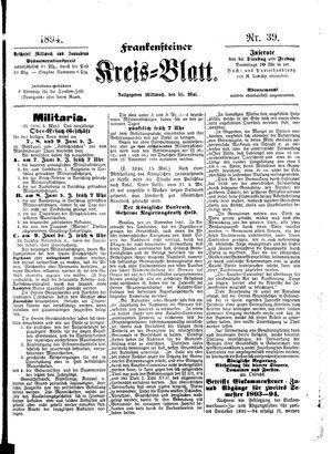 Frankensteiner Kreisblatt vom 16.05.1894