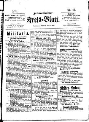 Frankensteiner Kreisblatt vom 23.05.1894