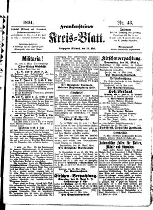 Frankensteiner Kreisblatt vom 30.05.1894